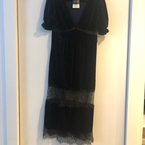 Velvet and lace Topshop Dress
